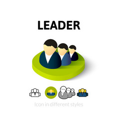 Leader icon in different style vector image