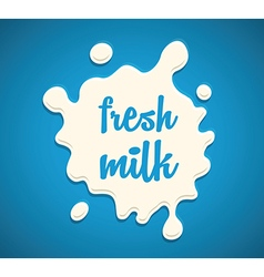 Milk splodge blue background vector