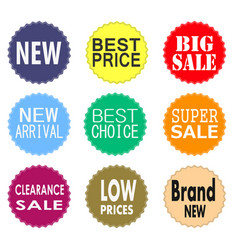 Sale promo labels and stickers collection vector