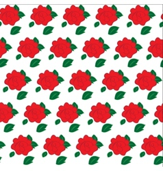 Seamless pattern of flowers roses vector image