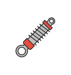 shock absorber icon vector image