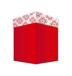 Square box gift christmas decorative vector
