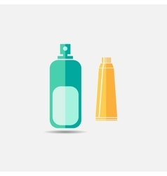 Toothpaste mouth wash colored icon vector