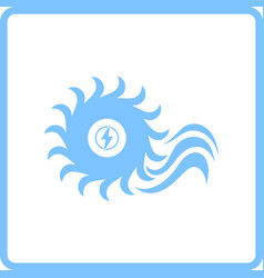 water turbine icon vector image vector image