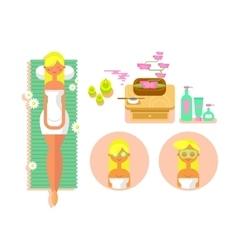 Woman spa concept vector image vector image