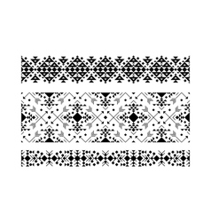 Black ethnic ornamental set on white vector