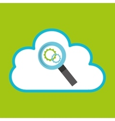 Cloud computing searching gear vector