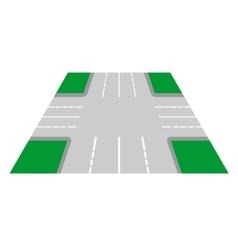 Crossroads perspective view vector