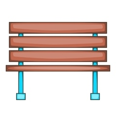 Bench icon cartoon style vector