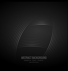 Black background with curve lines vector
