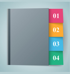 notepad notebok icon abstract infographic vector image