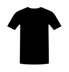 shirt the black color icon vector image