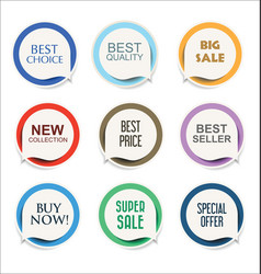 Modern sale sticker and tag colorful collection 1 vector