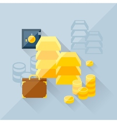 Concept of precious metals in flat design style vector