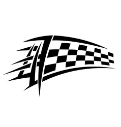 Racing tribal tattoo vector image