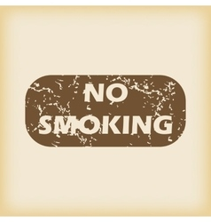 Grungy no smoking icon vector