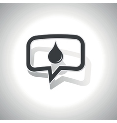 Curved water drop message icon vector