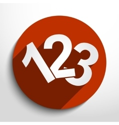 123 numbers icon vector