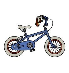 Blue child bike vector image