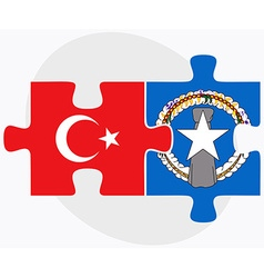Turkey and northern mariana islands vector