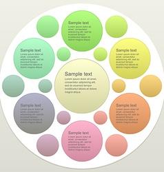 Six part business infographics template design vector