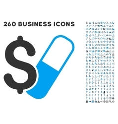 Farma business icon with flat set vector