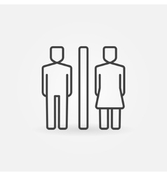 Toilet line icon vector image