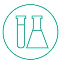 Test tubes line icon vector