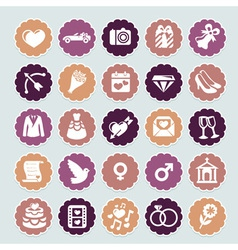 retro wedding collection vector image
