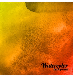 Abstract yellow and red watercolor background vector