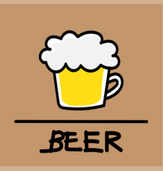 Beer hand-drawn style vector