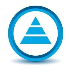 Blue pyramid icon vector