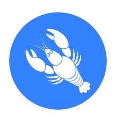 Boiled lobster icon in black style isolated on vector image