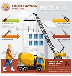 Construction and building business infographic vector