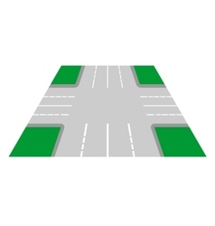 Crossroads perspective view vector image