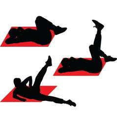 Exercising girl - vector