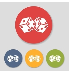 Flat dice icons set vector image vector image