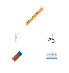 flat icon tool set of clippers date block vector image vector image