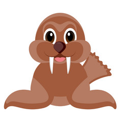 isolated cute sea lion vector image