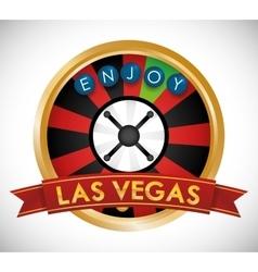 Las Vegas design vector image vector image