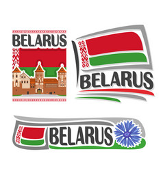 logo for belarus vector image