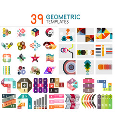 mega collection of geometric templates vector image vector image