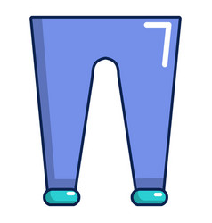 Men fashion accesory pants icon cartoon style vector