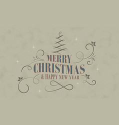 merry christmas and happy new year wishes in vector image