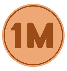 One million bronze coin vector
