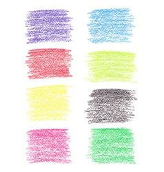 Set of colored pencil spots vector image vector image