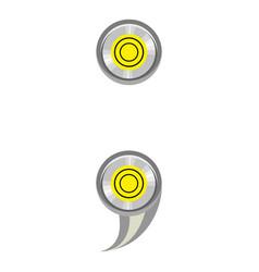 Sign semicolon ruler icon cartoon style vector