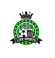 Soccer football sport bar pub icon vector