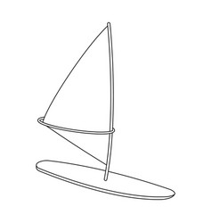 Surfing with a sailextreme sport single icon in vector