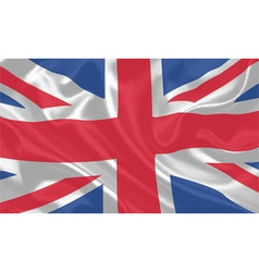 UK Flag waving vector image vector image